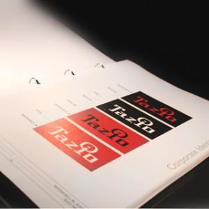 Il corporate image manual realizzato per Tazio